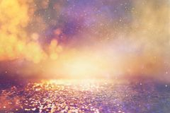 Free Abstract Glitter Pink, Purple And Gold Lights Background. De-focused Stock Image - 159081651