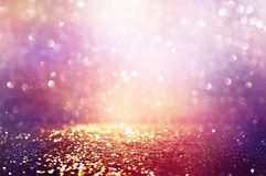 Free Abstract Glitter Pink, Purple And Gold Lights Background. De-focused Royalty Free Stock Photography - 160366697