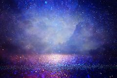 Free Abstract Glitter Silver, Purple, Blue Lights Background. De-focused Royalty Free Stock Photos - 161059218