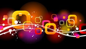 Abstract glittering background with waves vector illustration