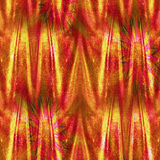 Abstract glittering background with wrinkled velvet curtain. Red, orange,yellow and gold glowing folded background resembling drapery with stars Stock Photos