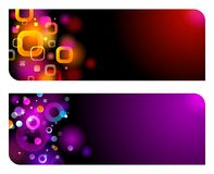 Abstract glittering banners Stock Photography
