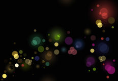 Abstract glittering lights background. Abstract glittering lights on black background Stock Image