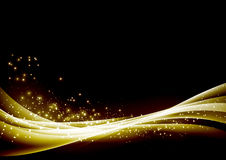 Abstract glittering sparkling waves border background Royalty Free Stock Photography