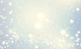 Abstract glittering stars over blue bokeh background.   Festive Royalty Free Stock Image