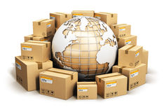 Global shipping and worldwide logistics concept Stock Photos