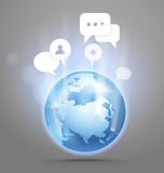 Abstract global communication scheme Royalty Free Stock Photos