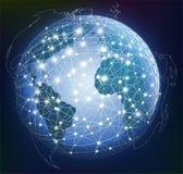 Abstract global digital communication. Stock Image