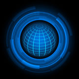 Abstract global earth  technology background Stock Photos