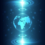 Abstract global future technology background, vector illustration Stock Photography