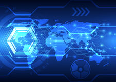 Abstract global future technology background, vector illustration. Innovation Royalty Free Stock Image