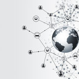 Abstract Global Network Connections Stock Photography