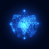 Abstract global network technology background, vector Stock Images