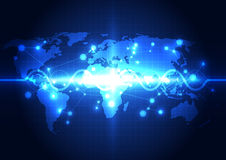 Abstract global network technology background, vector Royalty Free Stock Images