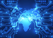 Abstract global network technology background, vector Stock Photo