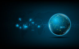 Abstract global network technology innovation concept background. EPS 10 stock illustration