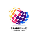 Abstract Global Pixel Symbol Royalty Free Stock Photos
