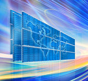 Abstract global technology background Royalty Free Stock Photo