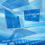 Abstract global technology background Stock Photo