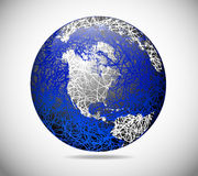 The abstract globe Stock Image