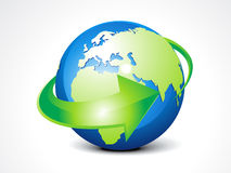 Abstract globe with arrow Royalty Free Stock Image