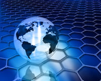 Abstract globe background Royalty Free Stock Photos