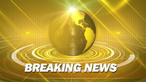 Abstract globe background for breaking news stock footage