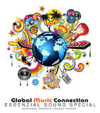 Abstract Globe Background For Disco Flyers. Global Music Event Abstract Background For Disco Flyers vector illustration