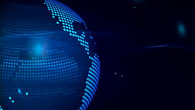 Abstract globe background for news stock footage