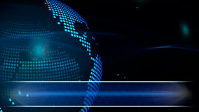 Abstract globe background for news stock video footage