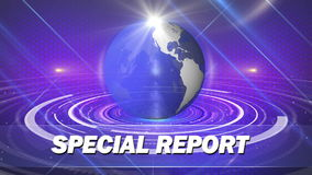Abstract globe background special report stock footage