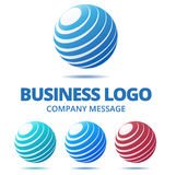 Abstract Globe Business Logo Royalty Free Stock Images