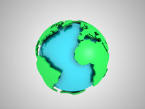 Abstract Globe. 3D image of abstract globe Royalty Free Stock Photo