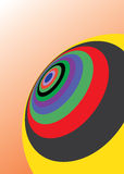 Abstract globe design. With coloured circles Stock Photography