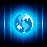 Abstract globe digital technology and network connection design Royalty Free Stock Photography