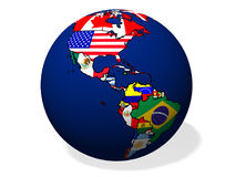 Abstract Globe with flags Royalty Free Stock Photos