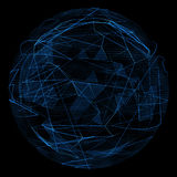 Abstract globe glow blue line and opacity triangle Royalty Free Stock Photo