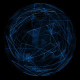 Abstract globe glow blue line Stock Photography
