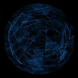 Abstract globe glow blue line Royalty Free Stock Photography