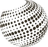 Abstract globe with halftone. Stock Photo