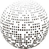 Abstract globe with halftone. Stock Images