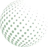Abstract globe with green halftone. Royalty Free Stock Image