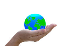 Abstract globe in the hand. Abstract globe in the hand, protect our world, save the earth Stock Images