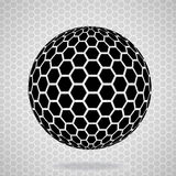 Abstract globe from hexagons. Vector illustration. Eps 10 Stock Photography