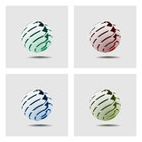 Abstract Globe. Icon with Arrows on Light Background Royalty Free Stock Photography