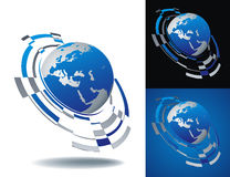 Abstract globe icon set Royalty Free Stock Image