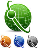 Abstract globe icons. Stock Photography