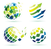 Abstract globe icons stock illustration