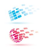 Abstract globe icons, business concept Royalty Free Stock Photography