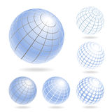 Abstract Globe Icons Set Stock Image